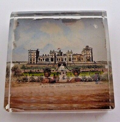Victorian Glass Paperweight Of The East Front Windsor Castle