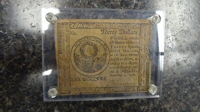 Continental Currency- $30 Philadelphia, Pennsylvania - November 2, 1776 USA note