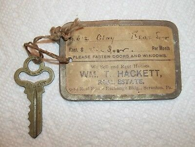 Antique Brass Sargent Key Patented Feb. 10 1891 612 Clay Ave Scranton, PA OLD!