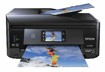 Epson XP-830 Wireless All-in-One Inkjet Printer with Scanner Copier and Fax (...