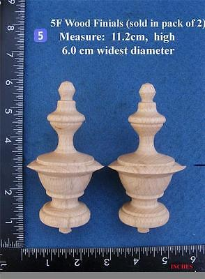Pair of Clock / furniture Finials Style 5F