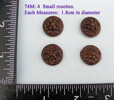 "74M ""4 rosettes"" clock case / furniture DIY"