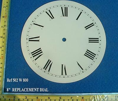 Replacement 8 Inch Dial face for Fusee Dial / smaller American Wall Clock