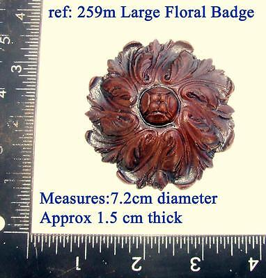 "259m ""Large floral badge"" for Vienna regulator clock cases, DIY* furniture"