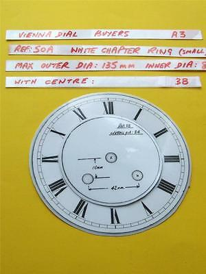 Buyers Ref:A3  Replacement laminate White  Small springer Clock Dial option 27