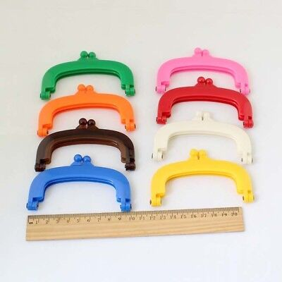 Plastic purse frame 10 cm rainbow color handmade