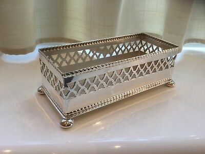 Lovely Vintage Plato Silver Plated Footed Biscuit Tray