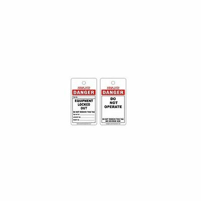 Asian Loto Do Not Operate Lockout Tag, ALC-OSPL-W (Pack of 10)