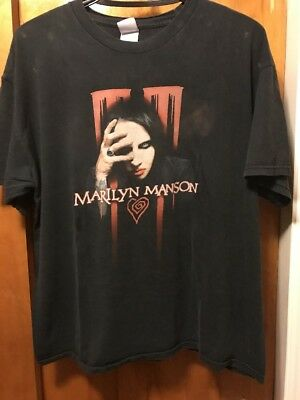 MARILYN MANSON ~ XL ~ 2007 EAT ME DRINK ME Concert Tour ~ 2 Sided T Shirt