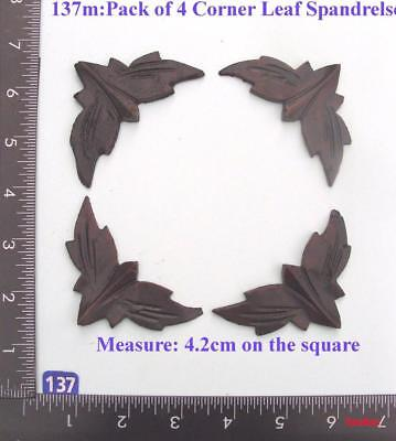 "TITLE: 137M ""4 leaf spandrels"" clock case / furniture DIY"