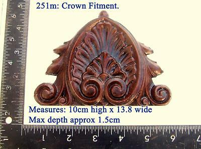 "251m ""fitting for crown"" for Vienna regulator clock cases, DIY* furniture"