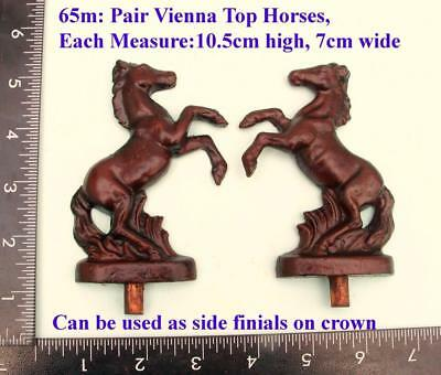 "TITLE: 65M "" Pair Horses"" clock case / furniture DIY"