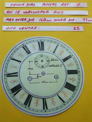 Buyers Ref:X,  Replacement laminate Ivory  Vienna Regulator Clock Dial option 22