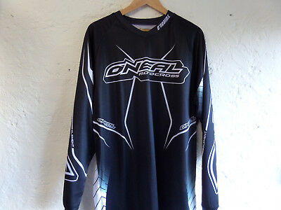 oneal motocross Jersey black/withe L