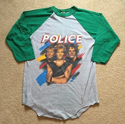 The Police Vintage 1983 Synchronicity Concert Tour Long Sleeve Shirt Xl T-Shirt