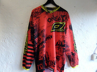 oneal motocross Jersey Toxic red/yel L
