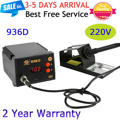 UK Electronic 936D Soldering Rework Station Temperature Control+Handle Stand