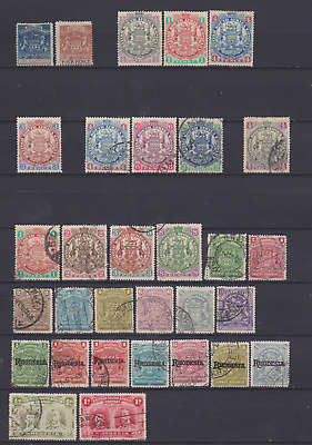 Rhodesia 1892/1910 Collection Used & Mint Mounted to 3/-
