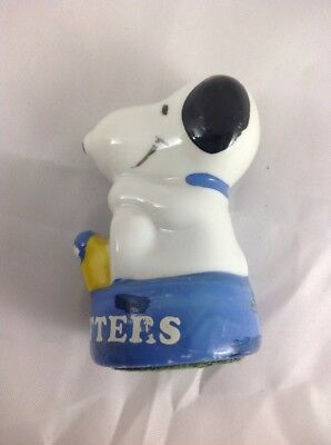 Vintage Snoopy Sitting at Typewriter Mini Paperweight/Figurine Peanuts 1980s