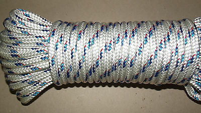 """3/8"""" x 85' Sail/Halyard Line, Double Braid Polyester, Jibsheets, Boat Rope -NEW"""