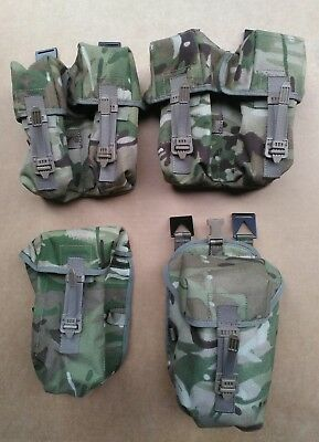 NEW Genuine Issue MTP PLCE Webbing Pouch Set of 4 - Ammo, Utility, Water Bottle