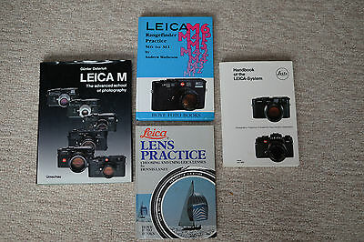 Leica Camera handbooks, brochures, and catalogues