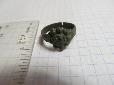 Ancient bronze finger ring Vikings 11- 12 century № 127.