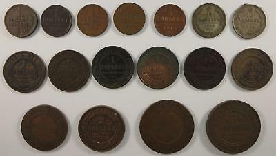 Best offer! Russian Empire lot, 1/2 Kopek, 1 Kopek coins +more, 1840's to 1910's