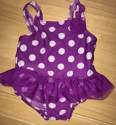 Children's Place Baby Girl Swimsuit Bathing Suit Purple 9-12 Months
