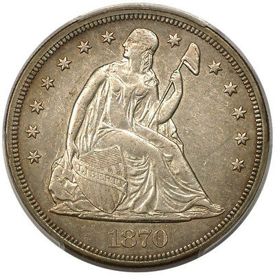 1870-CC $1 Liberty Seated Dollar PCGS AU50