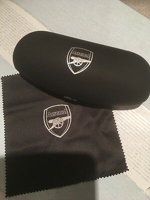 Official Arsenal FC Gunners eye glasses sunglasses spectacle case cloth Black
