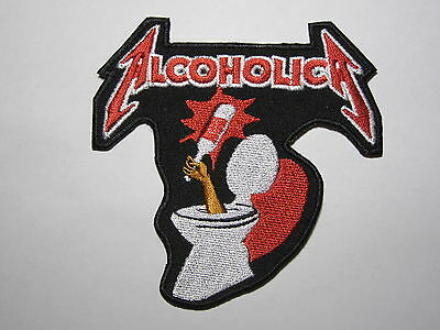 ALCOHOLICA Metallica embroidered NEW patch thrash metal