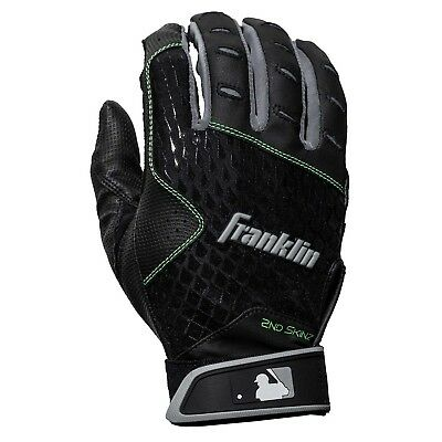 Franklin Adult 2nd Skinz Batting Gloves - Pair - Black/Black