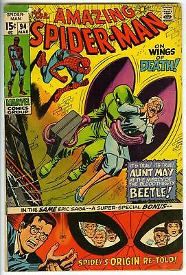 Amazing Spider-Man #94 Bronze Age 1st App. Arthur + Nancy Stacy 1971