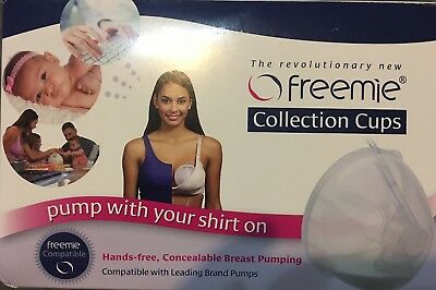 Freemie Collection Cups Hands Free Concealable Breast Pumping D12