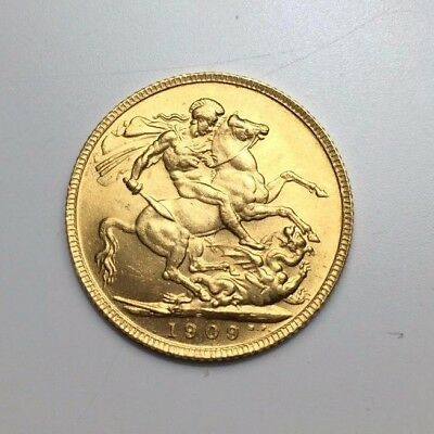 Great Britain Sovereign, 1909