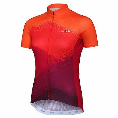dhb Blok Women's Short Sleeve Jersey - Haze Size - UK 10 ORANGE/PINK