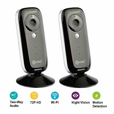 2X Contixo Wifi Baby Monitor 720P HD Video Security Camera Motion Night Vision