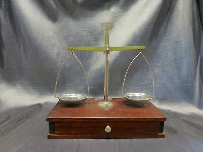 antique balance scale Harshaw Scientific apothacary pharmacy