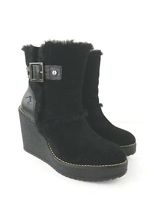 Women's TORY BURCH  Black Suede Ankle Boots Size 7 M