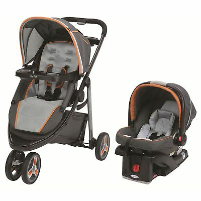 Graco Modes Sport Click Connect Car seat and stroller Travel System, Tangerine