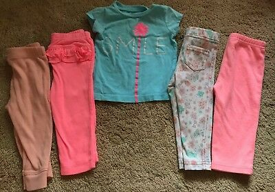 3-6/ 6 and 9 month baby girl clothes lot Carter's