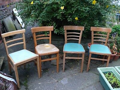 1950s Kitchen Chairs (4) very solid, for renovation in Warrington ( £1  )