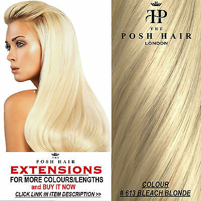 """Clip In Human Hair Extensions Full Head 18"""", Colour #613 More Colours Lengths"""