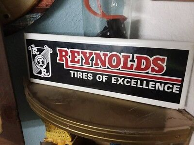 Vintage Gas Station Advertising REYNOLDS TIRE Metal Sign