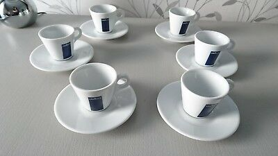 lot ensemble de 6 Tasses à café expresso LAVAZZA + SOUCOUPES NEUVES !!!