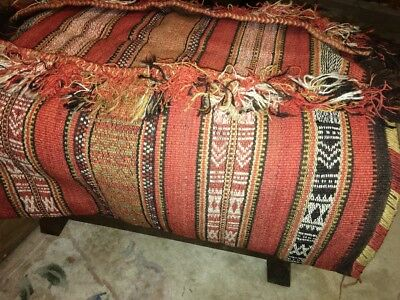Beautiful antique kilim Camel Saddle / pad / rug exc con ex Indian army / persia