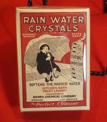 antique Rain Water Crystals sample-sized box with orig. product inside - MINT