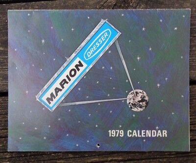 Vintage 1979 Marion Dresser Calendar with Shovel Photos