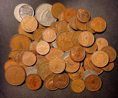 Old Ireland Punt Coin Lot - 50+ COINS - Overstock - Big Lot - Lot #919
